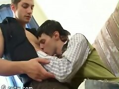 Russian twinks show masterclass of deep throat job