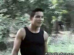 Horny Men Cock Sucking In The Woods