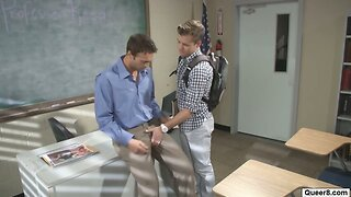 Gay students fuck teacher Teacher Confronts Student With Gay Photos And Gives The Student A Lesson Sextubespot Com