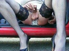 Wanking wearing heels and stockings