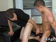 Vigorous and wild gay sex  scene 2