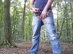 Cum in public - Masturbation in forest