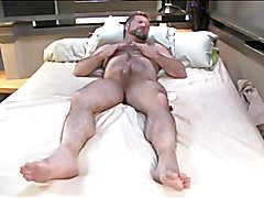 Wonderful hairy male masturbating