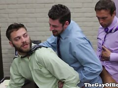Andrew Stark in an office threeway
