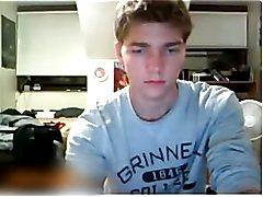 Straight guys feet on webcam #169