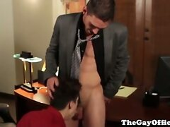 Joe Parker fucks co worker in the office