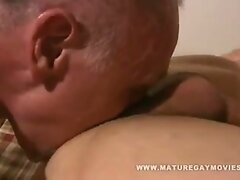 Old Guy Gets His Ass Fucked By Young Cock