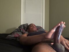 Making My Black Cock Explode