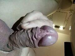 Closeup cumshot, big balls, 10 spurts