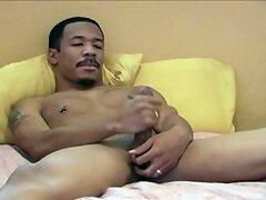Muscular Straight Guy Braxton Masturbating