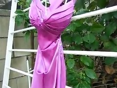 Prom Dress - Outdoors Hard Fuck Messy Cumshot