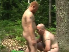 Sexy guys bnaging ass in the back yard