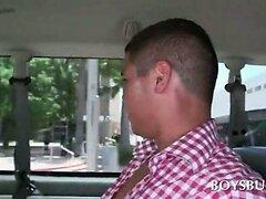 Hot amateur dude riding the boys bus for sex