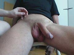 Me milking a big cock - post cum torture