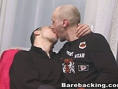 Amazing Barebacking Gays on a Red Couch