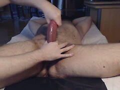 Me tease edge milk a hairy hung hunk of man