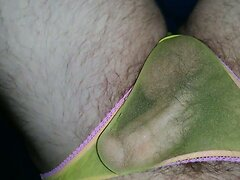 Getting hard & cumming in sheer panties