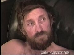 Hairy Redneck Amateur Jacks Off and Shoots His Load