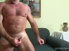 Hairy and Hung Daddy Jake Marshall Jerks Off  scene 2