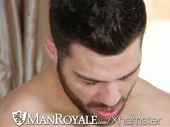 Manroyale Hairy masseur sucks and fucks twink