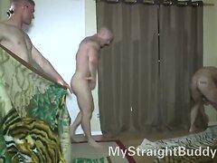 Straight Marine Buddies Wrestling Naked  scene 2