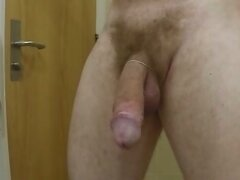 My hairy big cock cum shot now twice HD