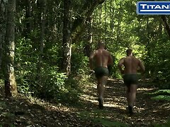 NAKED MILITARY JOCKS FUCK AFTER JOGGING IN THEIR SILKIES