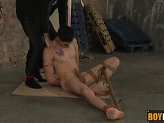 Dildo wielding Deacon rimming his horny friend on the floor