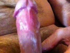 Hairy Cock Cumming Loads in the Afternoon