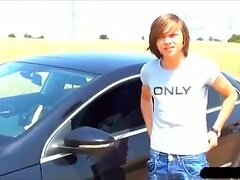 Young Boy William Dildo Fun On Ride