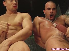 Buff jock getting his asshole drilled