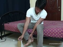 Asian Foot Fetish Boy Hermis Gets Fucked