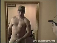 Amateur Mature Man Roger Jacks Off and Cums