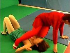 milf wrestling training
