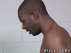 Corey James Takes A Black Cock In His Ass