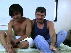 Daddy Fucks Asian Twink Aries