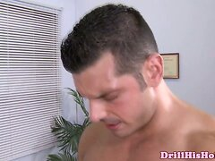 Muscular hunk ridding sweet big dick