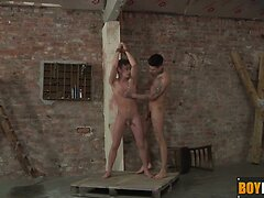 Horny Mickey loves to play with slave Cameron dick and ass