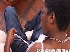 Black guy dresses up a cute crossdressing slut