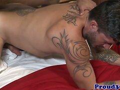 Muscle jock cummed over after anal fucking