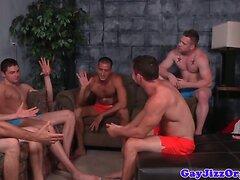 Analfucking jocks cumshot after cocksucking