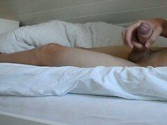 Masturbate in bed  - big cock