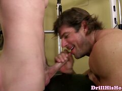 Well Built Beefy Athlete Spoils Dick With Sweet Blowjob