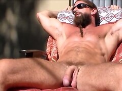 Str8 mountain man jerking in the sun  scene 2