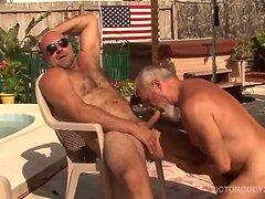 Gay rides straight boys dick like cowboy