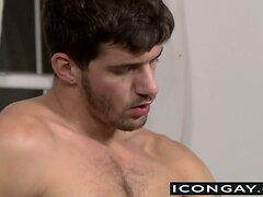 Hottie Ty pushes huge dick into muscled Nick tight as