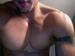 Str8 guy with Meanders ancient greek tattoo  scene 2