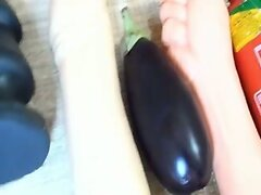 Ana IRON ASS #23  Extreme Butt Plug trying a Eggplant.