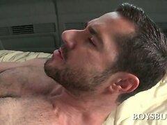 Naked guys drilling slick butt holes in the gay boys bus  scene 2
