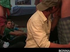 Fraternity hazing turns into gay gangbanging  scene 2